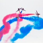 Red Arrows dazzle at breath-taking Bray Air Display   Pictured is: Red Arrows performing as part of an incredible day of spectacular aerobatics, involving 50 aircraft at this year's award-winning Bray Air Display, supported by the Irish Aviation Authority (IAA). The 13th annual, award winning air display took place this weekend (28th and 29th July) as part of the IAA's #AviationIreland weekend. www.brayairdisplay.com   PIC: Joe Keogh